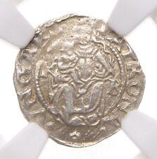 HUNGARY. Ferdinand I, Silver Denar, 1552-KB, NGC AU58