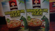 4 boxes Quaker Instant Oatmeal Dinosaur Eggs and Brown Sugar Breakfast Cereal
