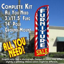 Furniture Sale (Starburst) Windless Feather Banner Flag Kit (Flag, Pole, & Mt)