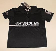 Erebus Motorsport V8 Boys Black Printed Raceteam Polo Shirt Size 2 New