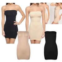 Women Shapewear Full Slip Dress Strapless Tummy Control Body Shaper Tube Plus Sz