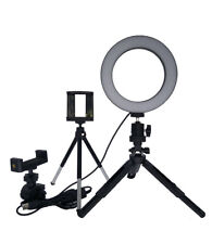 """6.3"""" LED Ring Light Kit With Tripod Stand Dimmable 5500K for Makeup Phone Camera"""
