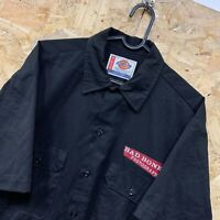 "Vintage Dickies S/S Black Canvas Workwear Shirt ""A Legend in Work"" Size Medium M"