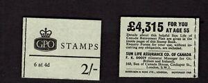 GB #NP32 November 1968 2' Machin booklet - Gibbons CV £0.80