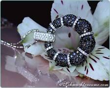Vom Feinsten: Schwarze Diamanten Anhänger mit Brillanten, 2,64 ct. WG585, 4.300€