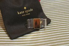 "KATE SPADE NEW YORK ""BOW BRIDGE"" CLEAR & GOLD BOW RING SIZE 7 HARD TO FIND"
