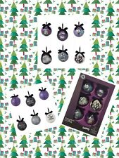 Disney Nightmare Before Christmas Ball Ornament Set 6 Limited 25th Anniversary