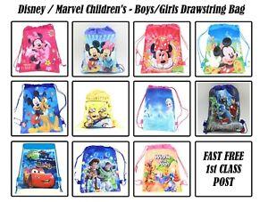 Disney / Marvel Children's Boys Girls Drawstring Bag - Fast and Free Post