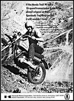 1970 Kawasaki Motorcycle Trail Boss Dirt Bike vintage photo Print Ad ads81