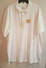 New Mens Sonoma Weekend Polo White 100% Cotton