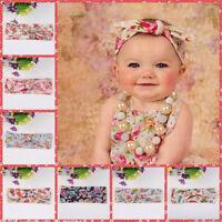 Baby Girls Floral Flower Bow Hairband Turban Knot Rabbit Headband Accessories