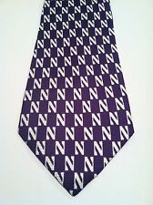 COLLEGE NECKTIE 100% SILK NORTHWESTERN WILDCATS