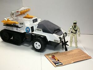 GI JOE SNOW CAT 1985 100% Complete w/ Frostbite and File Card