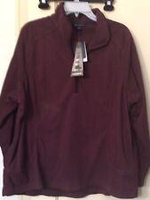 Lands End women's quarter zip fleece pullover size 1X 16-18W wine / burgundy NWT