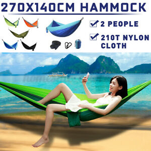 Upgraded Type 270x140cm Double Hammock 210T Nylon Swing Bed Nest Max Load 200kg