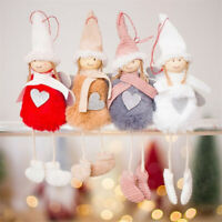 Christmas Angel Plush Doll Toy Xmas Tree Hanging Pendants Ornaments Home Decor