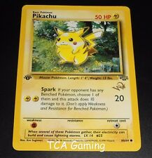 "Pikachu 60/64 1ST EDITION Jungle Set ""W"" Gold Stamped EXCELLENT Pokemon Card"