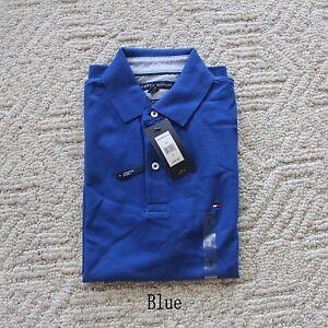 NWT Tommy Hilfiger Men's THFLEX Slim Fit Short Sleeve Mesh Polo Shirt 18 Colors