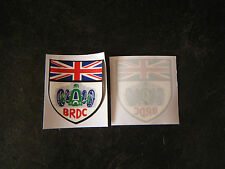 BRDC British Racing Drivers Club interior decal 70mm x 60mm NEW Very exclusive.