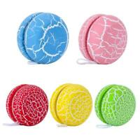 Wooden Crackle YOYO Ball Fingers Children Kid Gift Puzzle Childhood Fun Toy A#S