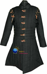 Black color Medieval Gambeson cotton Costume Armor