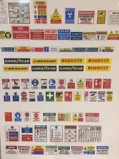 1/24 diorama garage signs posters safety signs   (sheet0035)