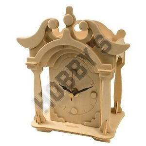 Shelf Clock: Wood Craft Assembly Wooden Construction Clock Kit