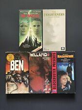 Horror VHS Lot 5 RARE Horror VHS Tapes Horror Halloween Killer Animal Movies