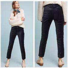 Anthropologie The Essential Velvet Slim Trouser Woman Size 6 Tall New