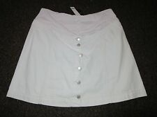 BNWT TopShop Maternity Skirt UK 8 White Denim Button Front Dress Up Over Bump