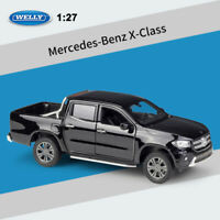 WELLY 1:27 Scale Mercedes-Benz X-Class Black Pickup Truck Diecast Car Model Toy
