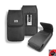 Premium Rugged Nylon Velcro Pouch Case Belt Clip Holster For LG Q7 Plus