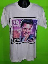 ELVIS PRESLEY T-SHIRT - Vintage 1992 - 29 Cent USPS Postage Stamp L White - NWT