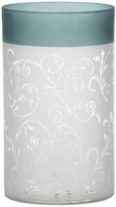 Yankee Candle 1521509 Teal Vine Candle Holder, Glass – Teal/White
