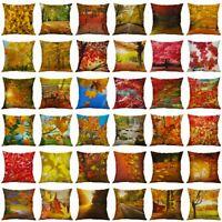 Iandscape Painting Pattern Cotton Linen Pillow Case Home Cushion Cover18'' Decor