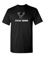 Stag Arms AR15 Rifle Firearms Weapon Gun Military Black T-Shirt