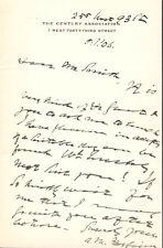 ANDREW MARTIN FAIRBAIRN - AUTOGRAPH LETTER SIGNED 05/01/1906