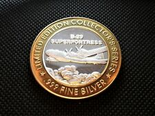 B-29  SUPERFORTRESS GRAND CASINO 999 SILVER $10 GAMING