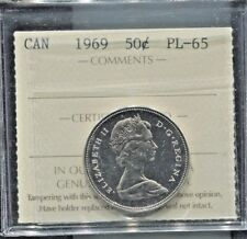 CANADA - SPECTACULAR HISTORICAL QE II NICKEL 50 CENTS, 1969, PL-65