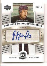 Joffrey Lupul 2005-06 Upper Deck Cup Emblems of Endorsements Patch Auto 6/15