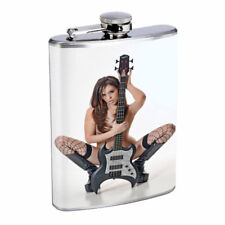 Rock & Roll Pin Up Girls D1 Flask 8oz Stainless Steel Hip Drinking Whiskey