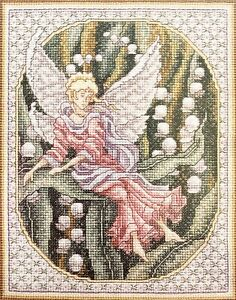 """Janlynn """"Lily Maiden"""" Vintage Fantasy Counted Cross Stitch Kit **REDUCED**"""