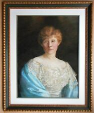 Portrait of an Edwardian Lady. Original Pastel by listed artist Emily Eyres 1901