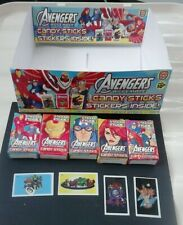 AVENGERS ASSEMBLE  STICKERS + PACKETS  + DISPLAY BOX