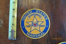 UNITED STATES MARSHAL BICENTENNIAL 1789-1989 COLLECTOR PATCH