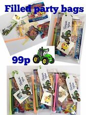 Tractor party bags, pre filled ,birthday sweets toys, puzzle, tattoo boys, girls