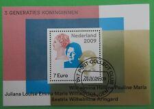 Nederland NVPH 2642 blok 3 generaties koninginnen 2009 mooi gestempeld