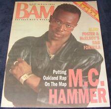 BAM magazine July 28 1989 #313  M. C. Hammer putting Oakland rap on the map