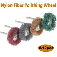 8/12x Abrasive Polishing Wheel Buffing Brush Dremel Polish Rotary Drill Bit Tool