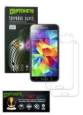 2x Pack KRYPTONITE Protectores de Pantalla de Vidrio Templado para Galaxy S5